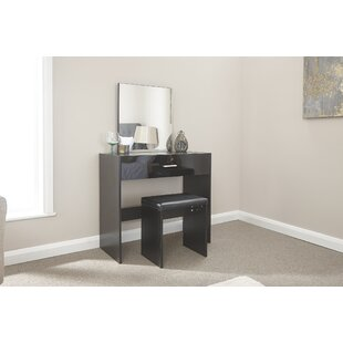 Pascal Compact Dressing Table Set With Mirror By Zipcode Design