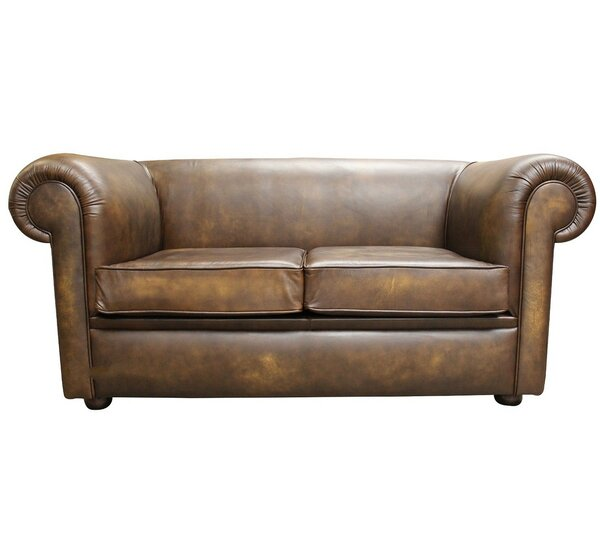 Ophelia Co Caudill Genuine Leather Loveseat Wayfair Co Uk