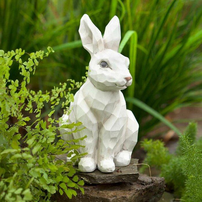Delicieux Woodcut Rabbit Garden Statue