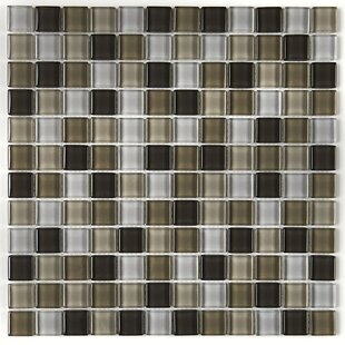 Review Geneva 1 x 1 Glass Mosaic Field Tile in Soft Cashmere by Itona Tile