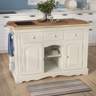 Hofmeister Kitchen Island with Butcher Top DarHome Co