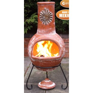 Sol Clay Wood Burning Chiminea By Gardeco
