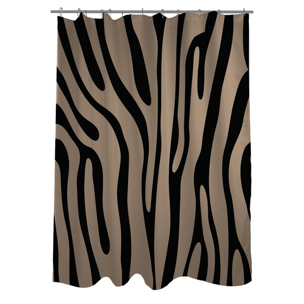 One Bella Casa Zebra Print Shower Curtain