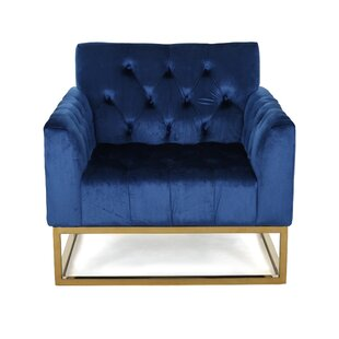 Great Price Bolduc Modern Velvet Armchair By House of Hampton