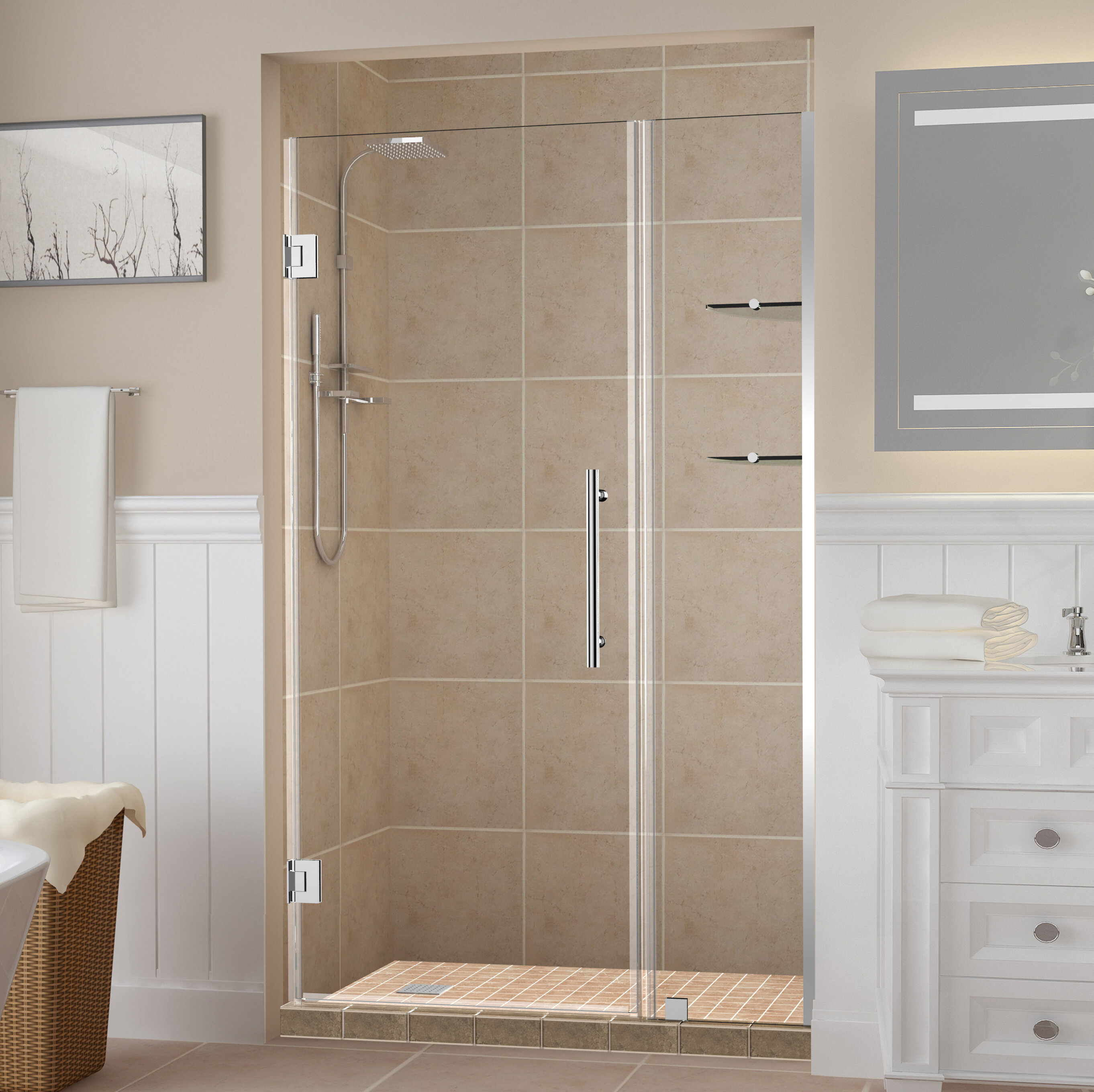 "Belmore GS 10"" x 10"" Hinged Frameless Shower Door"