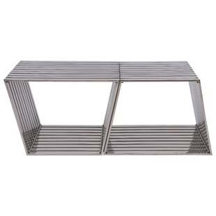 LeisureMod Metal Storage Bench (Set of 2)