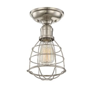 Evergreen 1-Light Semi Flush Mount by Trent Austin Design