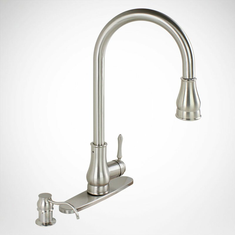 Kokols Pull Out Single Handle Kitchen Faucet with Side Spray ...