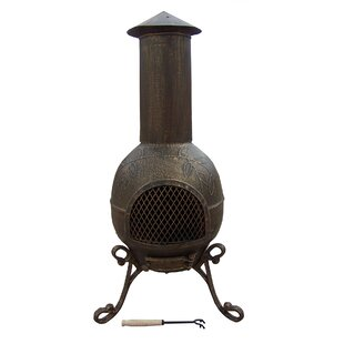 Fire Pits Steel Wood Burning Chiminea By Oakland Living