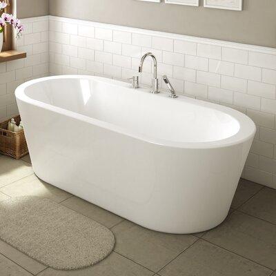 bath tub. Una 71  x 34 Freestanding Soaking Bathtub Bathtubs You ll Love Wayfair ca