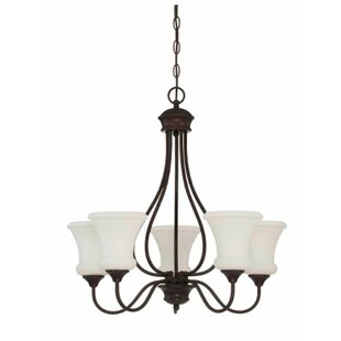Charlton Home Freeborn 5-Light Shaded Chandelier