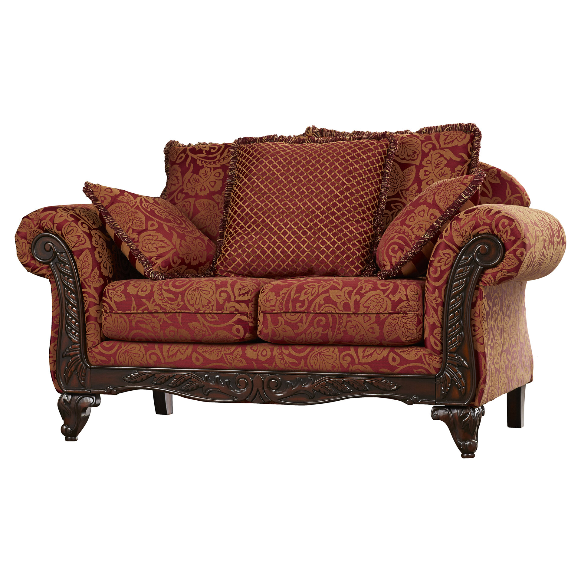 Fleur De Lis Living Powersville 71 Flared Arm Loveseat With Reversible Cushions Reviews Wayfair