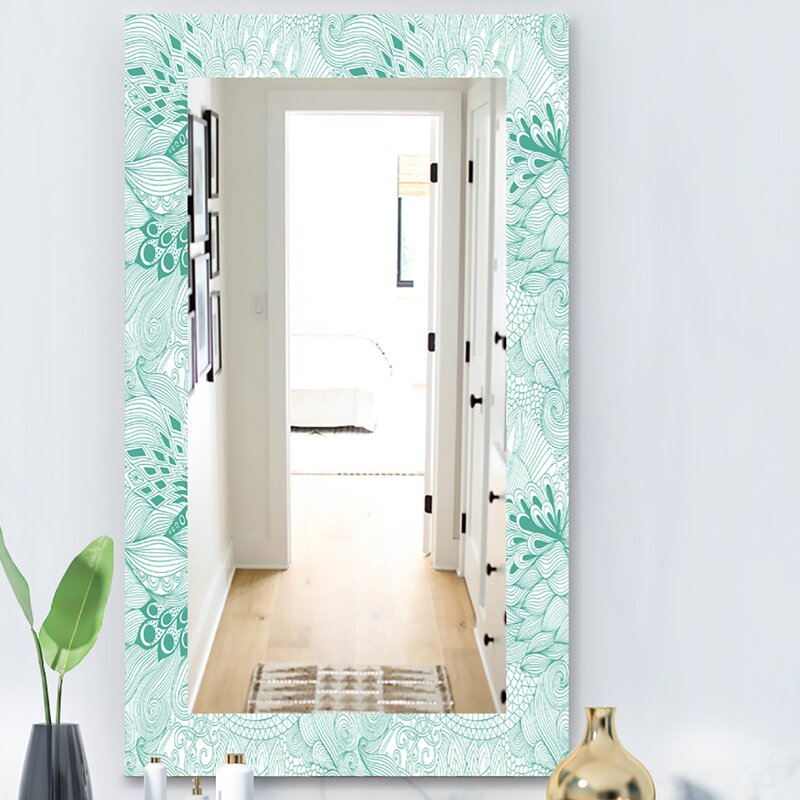 East Urban Home Abstract With Colorful Ornament Modern Frameless Mirror Wayfair