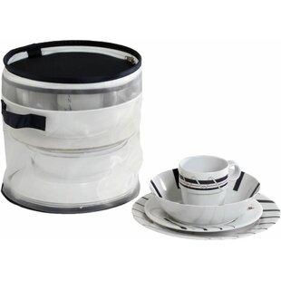 Cannes Melamine Nautical 16 Piece Dinnerware Set Service for 4  sc 1 st  Wayfair & Melamine Nautical Dinnerware | Wayfair