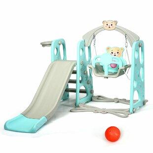 Celina 4 In 1 Kids Toddler Climber Slide Play Swing Set By Freeport Park