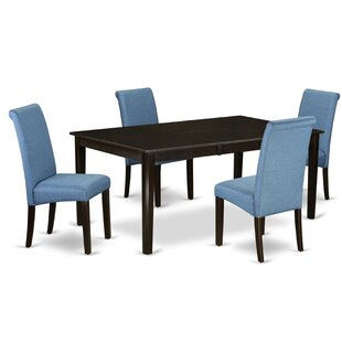 Tatyana Table 5 Piece Extendable Solid Wood Dining Set by Winston Porter