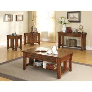 Loon Peak Rock 4 Piece Coffee Table Set