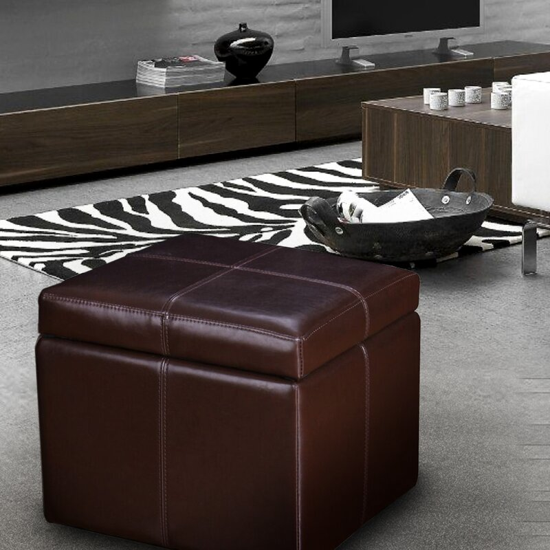 Price Check Contrast Storage Ottoman By Adeco Trading