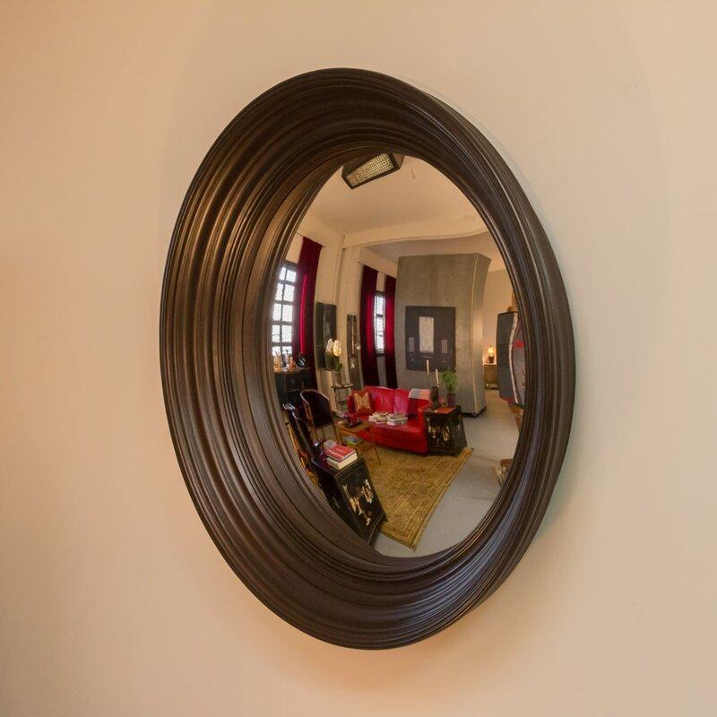 "Convex Wall Mirror reflecting design lola 46"" decorative convex wall mirror & reviews"