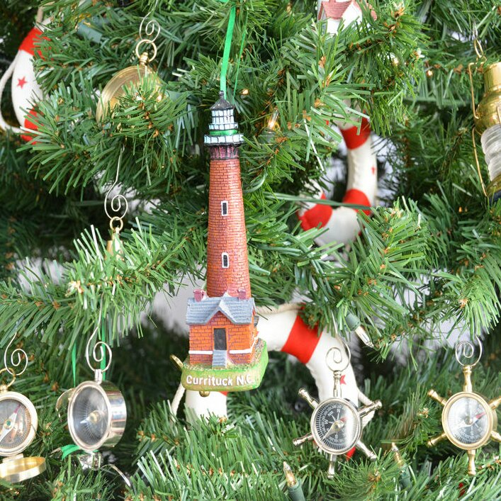 currituck lighthouse decoration christmas tree ornament - Christmas Lighthouse Decorations