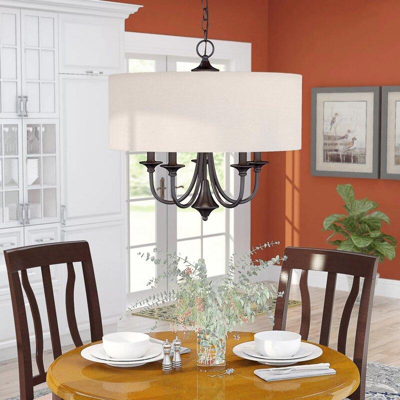 becher 5 light drum chandelier - Dining Room Drum Chandelier