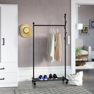 Mccalla Portable Coat And Hat 85cm Wide Clothes Rack By Rebrilliant