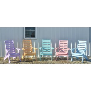 Olson Ladderback Plastic Folding Adirondack Chair