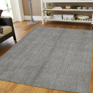 Look for One-of-a-Kind Sample Tone-on-Tone Hand-Knotted 5' x 7' Wool Gray Area Rug By Isabelline
