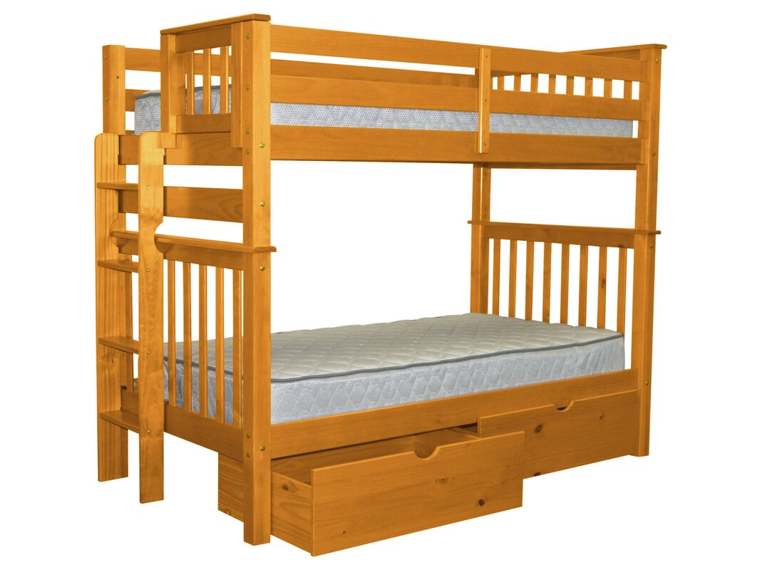 Twin Bunk Beds With Storage Part - 25: Mission Tall Twin Over Twin Bunk Bed With Storage