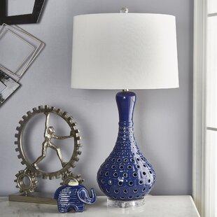 Liadan Ceramic Pierced Bottle 31 Table Lamp
