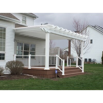 Modern Pergola Kits Ithaca Attached 10 Ft. W x 10 Ft. D Vinyl Pergola