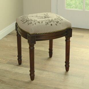 Purchase Elk Linen Upholstered Vanity Stool with Nailhead By123 Creations
