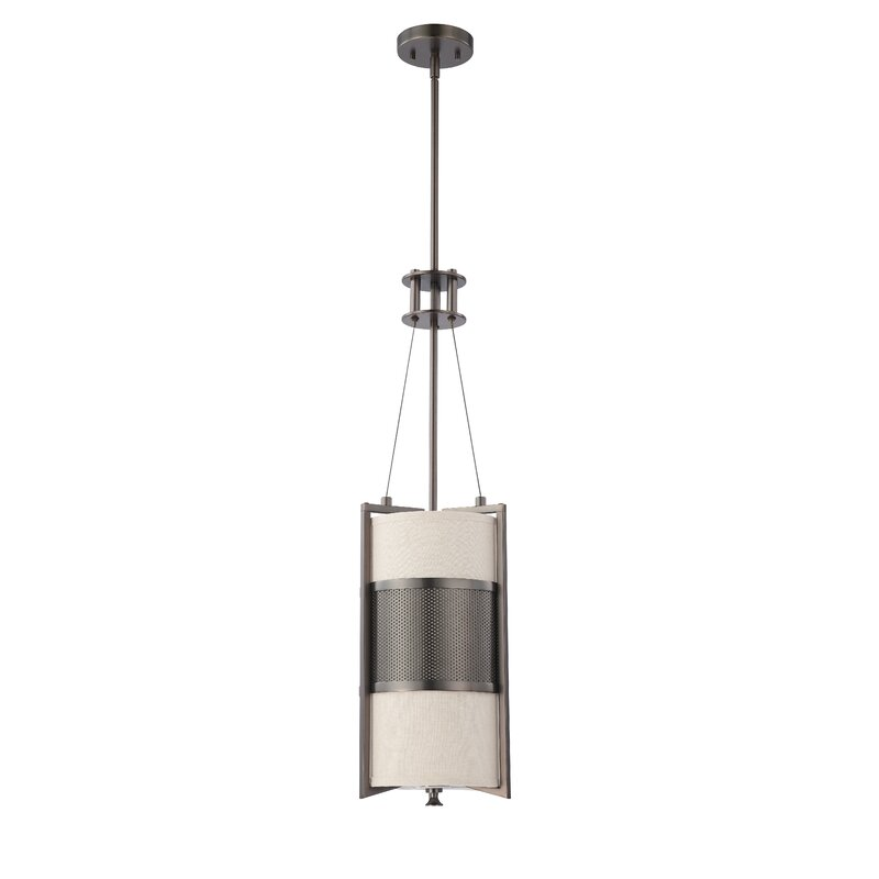 House Of Hampton Moorer 1 Light Single Cylinder Pendant Reviews Wayfair
