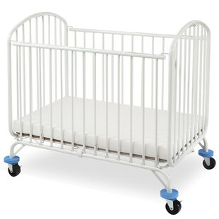 Folding Arched Compact Folding Portable Crib with Mattress ByL.A. Baby