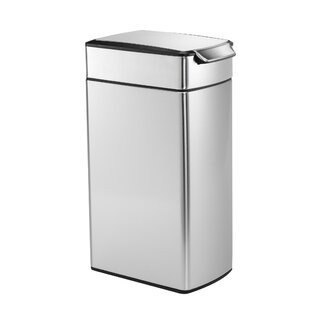 10.6 Gallon Slim Touch-Bar Trash Can, Brushed Stainless Steel By simplehuman