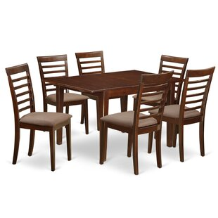 Lorelai 7 Piece Dining Set by Alcott Hill Discount