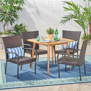 Bay Isle Home Islamorada 5 Piece Dining Set