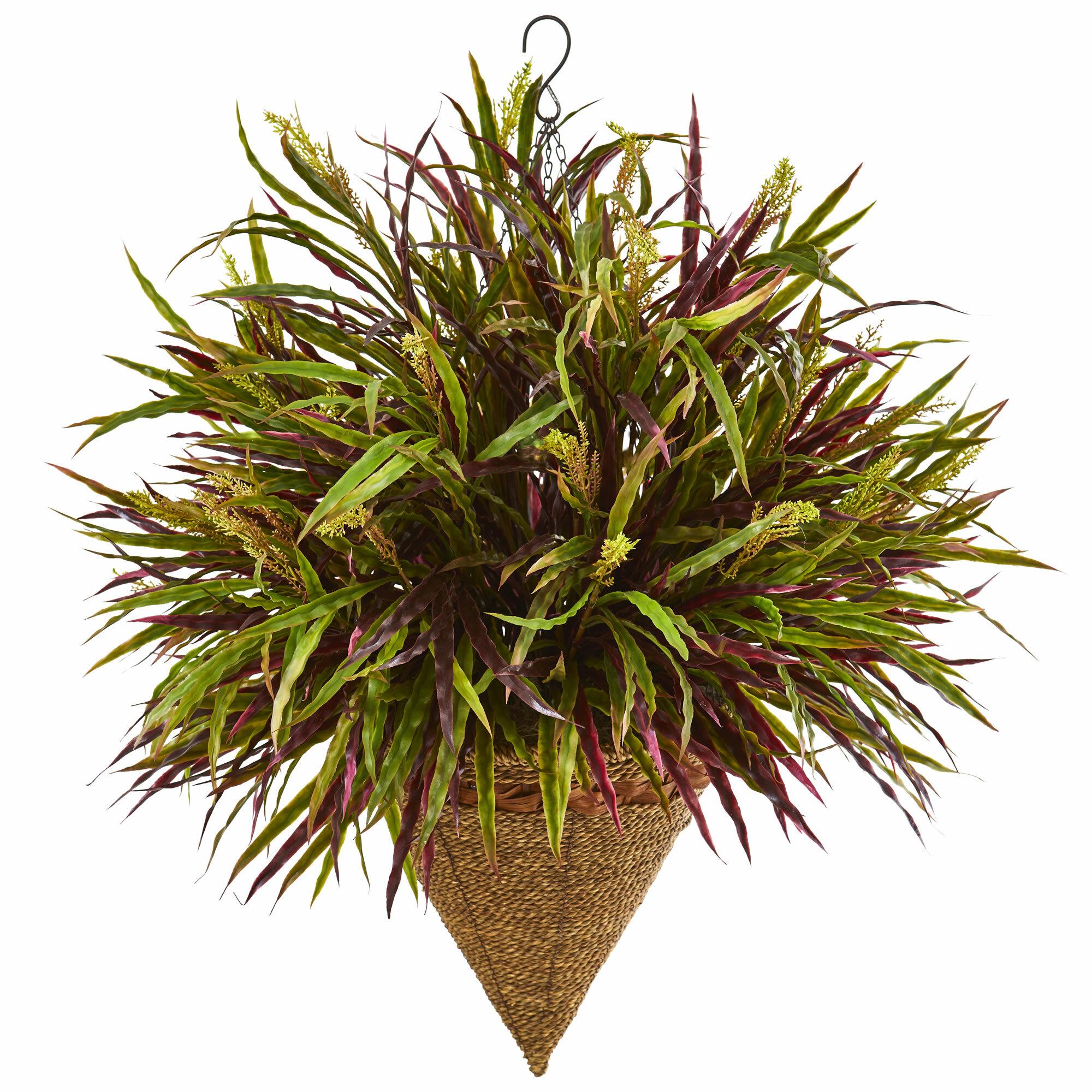 Bloomsbury Market 15 Artificial Foliage Plant In Basket Wayfair