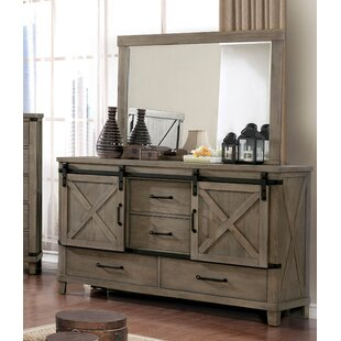 Price Check Brodnax 4 Drawer Combo Dresser with Mirror by Three Posts