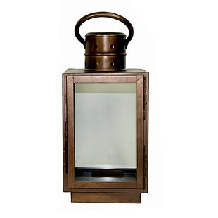 Longshore Tides Square Glass/Metal Lantern