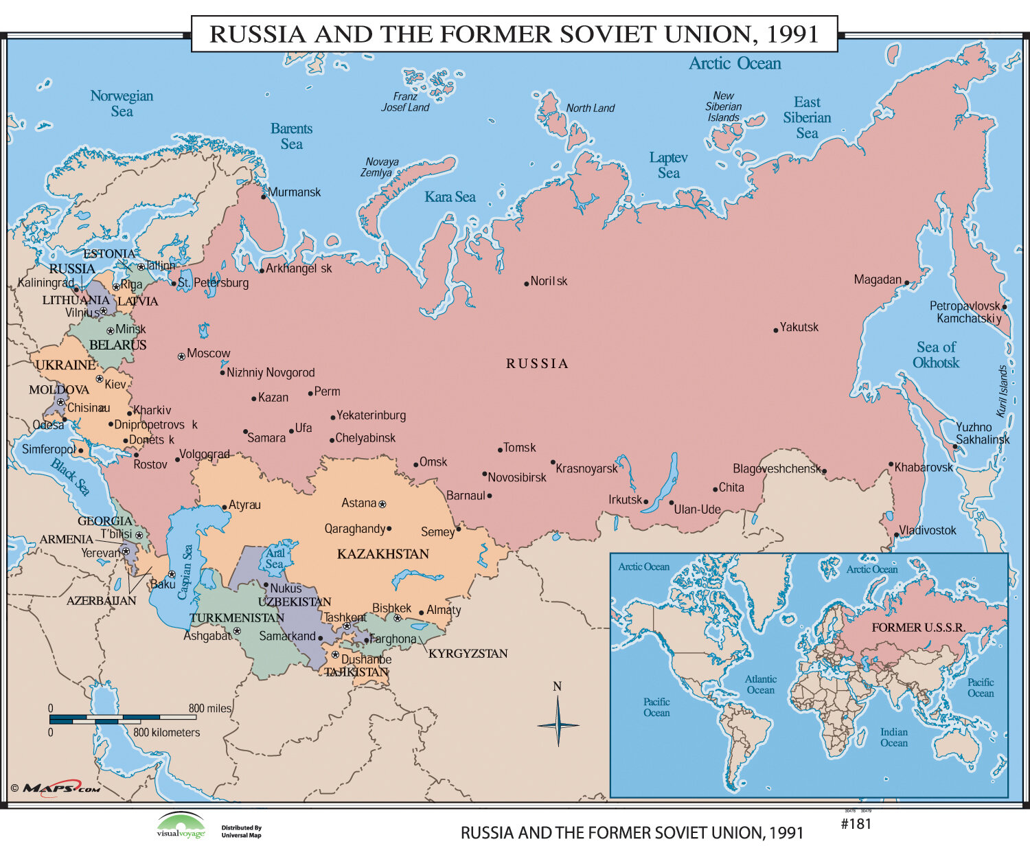 Universal Map World History Wall Maps Russia The Former Soviet