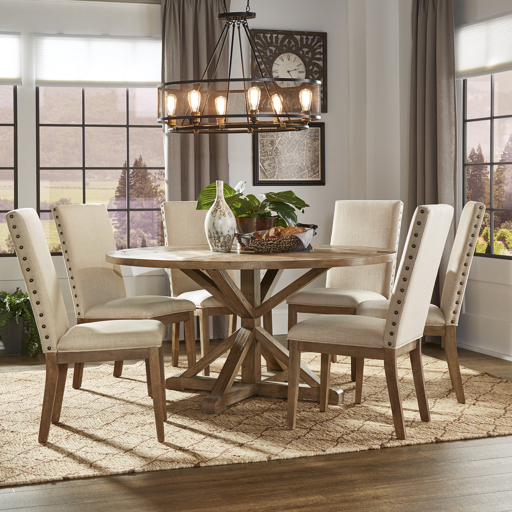 Round Seats 6 Kitchen Dining Room Sets Dining Table Sets You Ll Love In 2021 Wayfair