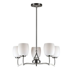 Latitude Run Vanmatre 5-Light Shaded Chandelier