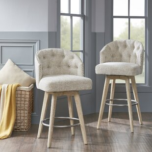 Wallick 30.75 Swivel Bar Stool Ophelia & Co.