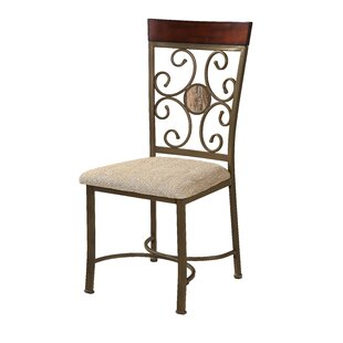 Stefanie Metal Dining Chair (Set of 2) by Fleur De Lis Living
