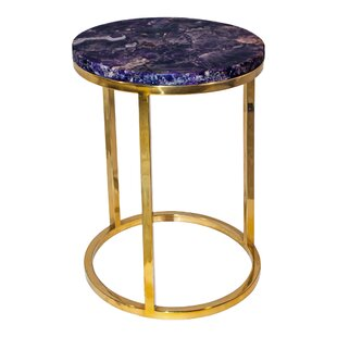 Barwick Amethyst End Table by Everly Quinn