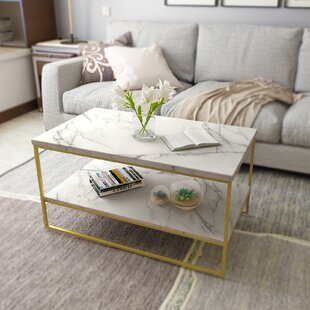 Faux Marble Sled Coffee Tables You Ll Love In 2021 Wayfair