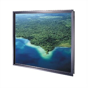 Da-Plex Rigid Rear Black Fixed Frame Projection Screen