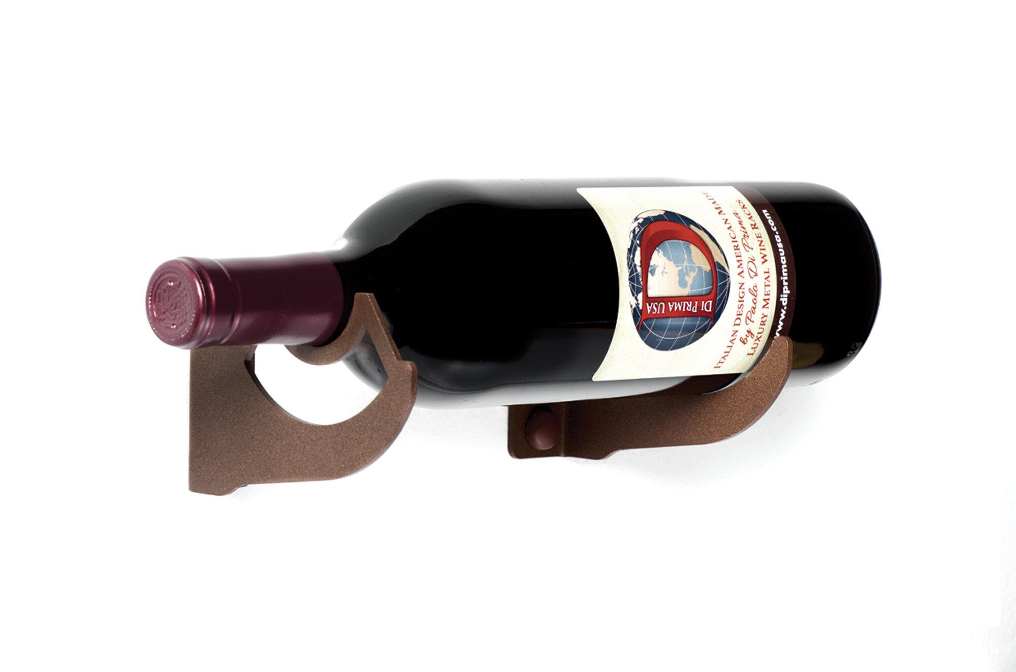 Ebern Designs Innsbrook 1 Bottle Wall Mounted Wine Bottle Rack In Corten Wayfair