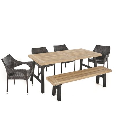 Arabella Outdoor 6 Piece Dining Set by Brayden Studio